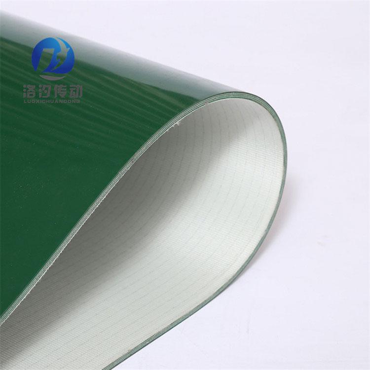 綠色PVC輸送帶側面細節