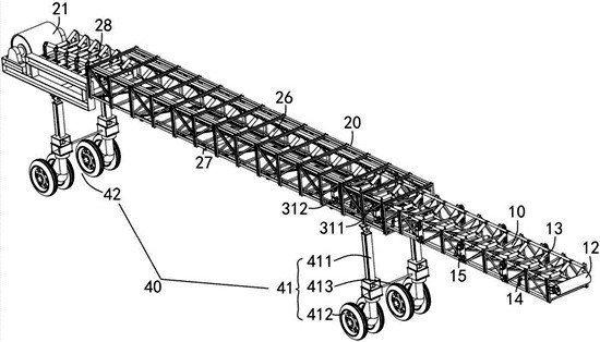 移動可伸縮帶式輸送機