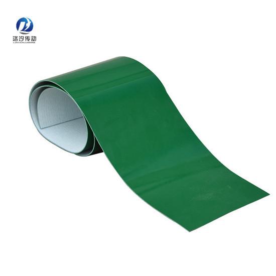 綠色PVC輸送帶裁邊整齊無毛邊