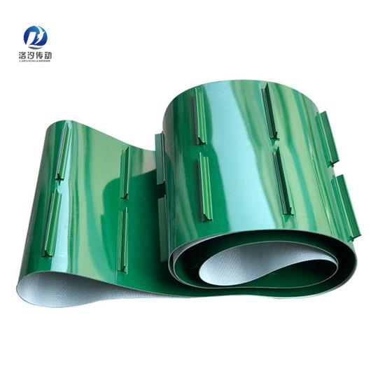 綠色PVC擋板輸送帶任意厚度都可以生產