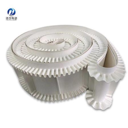 白色PVC裙邊輸送帶