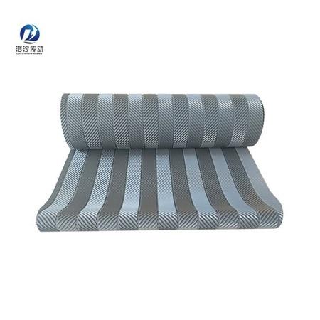 5.0灰色魚骨紋PVC輸送帶